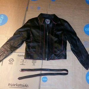 Womens Harley Davidson Black Leather Jacket S